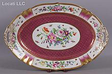 A Large Hand Painted Serving Platter by KPM