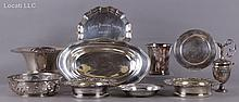 Estate Lot of Sterling and Silver Plate
