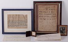 A Group of Americana: Samplers, Documents, Photos...