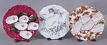 Three Turkey Oyster Plates