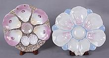 Two Porcelain Oyster Plates, One by Carl Tielsch