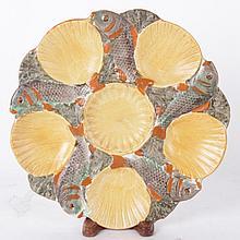 A Minton Salt Glaze Oyster Plate