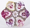 A Pansy Decorated Porcelain Oyster Plate