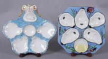 Two Oyster Plates, Oscar Gutherz and Boteler