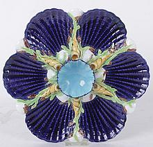 A Majolica Oyster Plate by George Jones