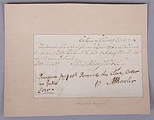 Signature of Metcalf Bowler, Revolutionary War Informant to the British