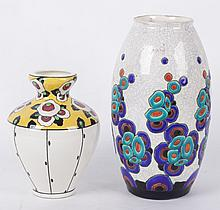 Two Boch Freres Art Pottery Vases