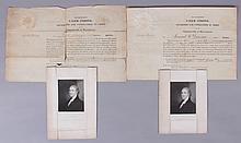 Two Military Commissions Signed by Massachusetts Governor Caleb Strong