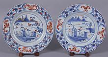 A Pair of Chinese Export Porcelain Plates, 18th Century