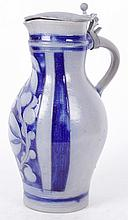 A German Stoneware Flagon, 19th Century