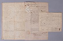 Three Legal Documents, One Bearing the Signature of William Pitkin