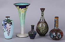 Five 19th Century Japanese Cloisonne Vases