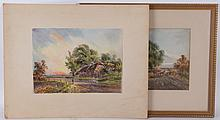 Charles McKinley (19th Century) Two Watercolors