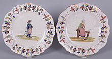 Two Early Quimper Pottery Plates