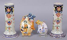 Four Small Quimper Pottery Items