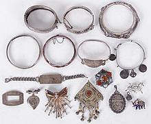 A Group of Silver Jewelry