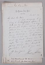 Historically Important Letter Between Theodore Tilton and Henry Ward Beecher, 1870