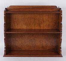 A Walnut Hanging Shelf, 20th Century