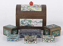 A Group of Chinese Enameled Boxes