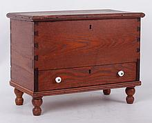 An American Miniature Chestnut Blanket Chest