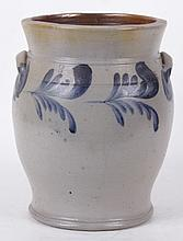 A 19th Century Three Gallon Stoneware Crock Att. To Remmey