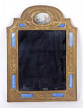A French Gilt Bronze and Guilloche Mirror