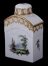 An 18th Century Royal Copenhagen Porcelain Tea Caddy