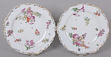 A Pair of English Porcelain Plates, Chelsea, 18th Century