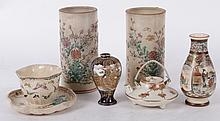 A Group of Japanese Satsuma Pottery