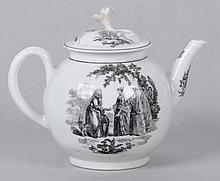 An 18th Century Porcelain Teapot, Worcester