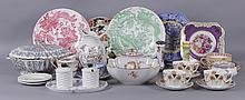 A Large Group of Porcelain, English and Continental, Royal Crown Derby, George Jones, Etc...