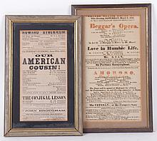 Two 19th Century Playbills