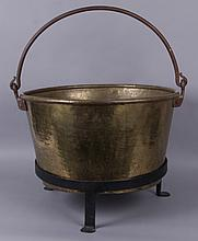 A Brass Candy Kettle and Stand, 19th Century
