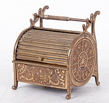 A Victorian Brass Inkstand in the Form of a Desk