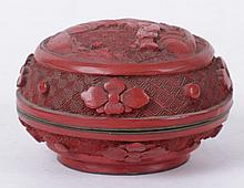 A Chinese Cinnabar Box, 19th Century
