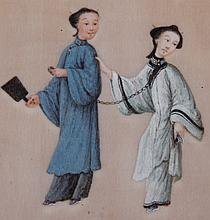 A Chinese Gouache on Silk, 19th Century