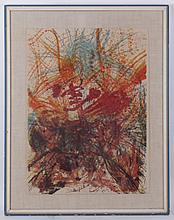 An Abstract Lithograph Dated 1961