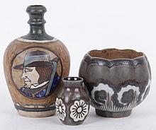 Three Pieces of Quimper Odetta Pottery