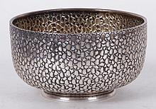 An Unusual Sterling Silver Bowl, London 1885