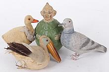Four German Figures, Candy Container, Roly-Poly, Etc...
