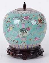 A Chinese Porcelain Ginger Jar, 19th Century