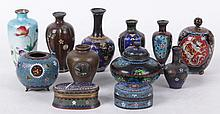 A Large Group of Japanese Cloisonne