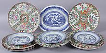 Chinese Export Porcelain, Canton and Rose Medallion