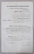 American Document, Justice of the Peace Appointment, Marcus Morton Signature