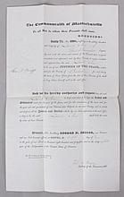 American Document, Justice of the Peace Appointment, 1844