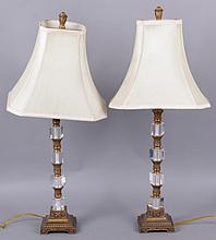 A Pair of Modern Glass Lamps