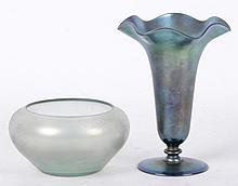 Two Pieces of Art Glass Including Steuben