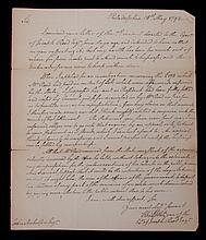 A Philadelphia Document Dated 1792, Charles Pettit A.L.S.
