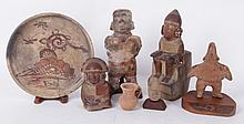 A Group of Precolumbian or Precolumbian Style Pottery