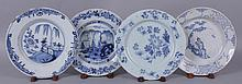 Four Early Delft Plates